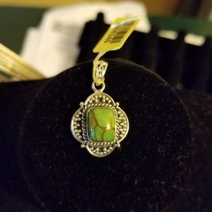 Jewelry - Artisan crafted Mojave green pendant
